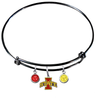 Iowa State Cyclones NCAA Black Expandable Wire Bangle Charm Bracelet