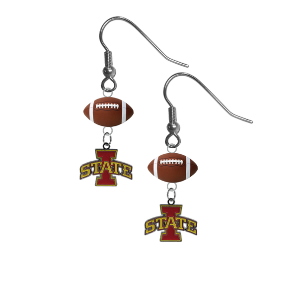 Iowa State Cyclones NCAA Football Dangle Earrings