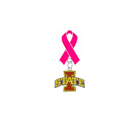 Iowa State Cyclones Breast Cancer Awareness / Mothers Day Pink Ribbon Lapel Pin
