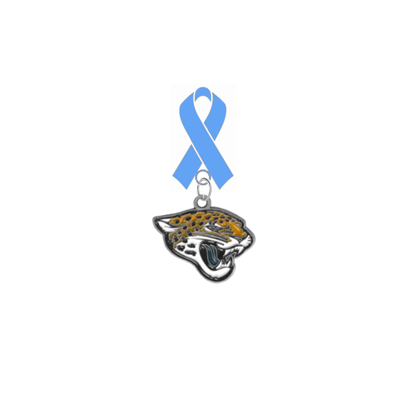 Jacksonville Jaguars NFL Prostate Cancer Awareness / Fathers Day Light Blue Ribbon Lapel Pin