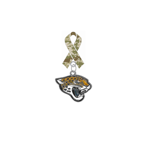 Jacksonville Jaguars NFL Salute to Service Military Appreciation Camo Ribbon Lapel Pin