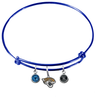 Jacksonville Jaguars Blue NFL Expandable Wire Bangle Charm Bracelet