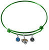 Jacksonville Jaguars Green NFL Expandable Wire Bangle Charm Bracelet