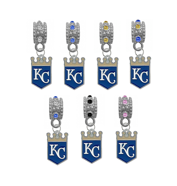 Kansas City Royals MLB Baseball Crystal Rhinestone European Bracelet Charm