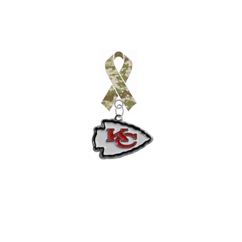 Kansas City Chiefs NFL Salute to Service Military Appreciation Camo Ribbon Lapel Pin