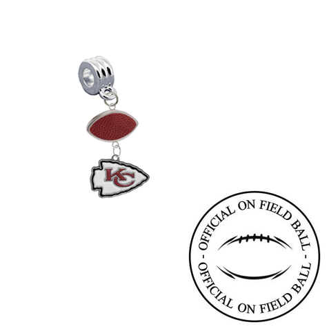 Kansas City Chiefs On Field Football Universal European Bracelet Charm (Pandora Compatible)