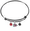 Kansas City Chiefs Black NFL Expandable Wire Bangle Charm Bracelet