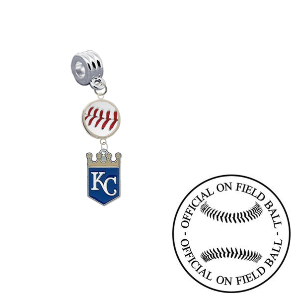 Kansas City Royals On Field Baseball Universal European Bracelet Charm (Pandora Compatible)