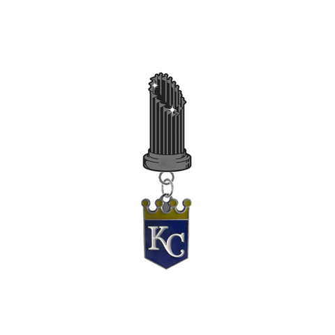 Kansas City Royals MLB World Series Trophy Lapel Pin