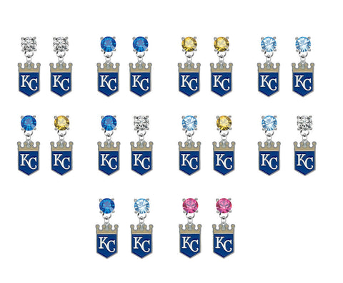 Kansas City Royals MLB Swarovski Crystal Stud Rhinestone Earrings