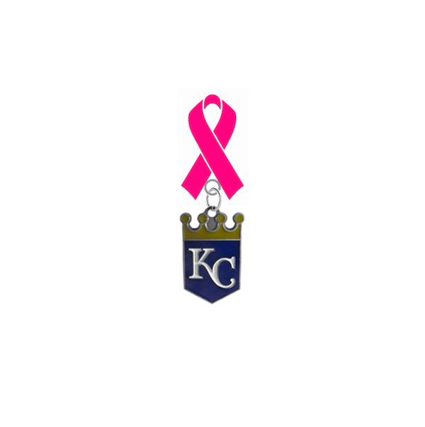 Kansas City Royals MLB Breast Cancer Awareness / Mothers Day Pink Ribbon Lapel Pin