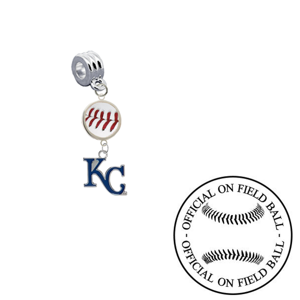Kansas City Royals 2 On Field Baseball Universal European Bracelet Charm (Pandora Compatible)