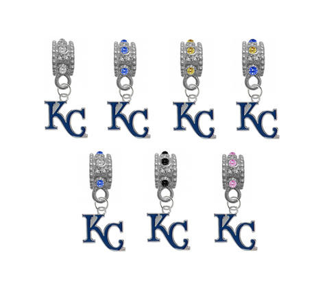 Kansas City Royals 2 MLB Baseball Crystal Rhinestone European Bracelet Charm