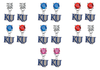 Kansas Jayhawks 2 NCAA Swarovski Crystal Stud Rhinestone Earrings