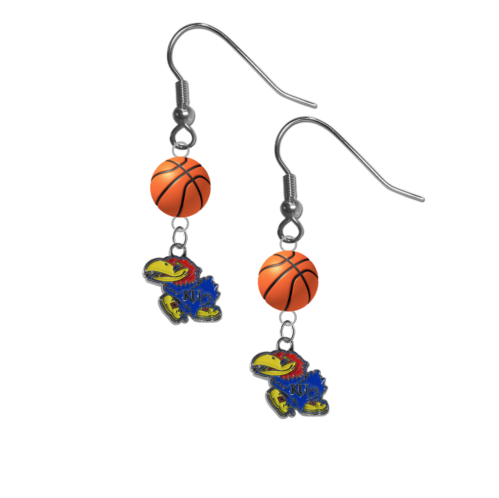 Kansas Jayhawks NCAA Basketball Dangle Earrings