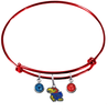 Kansas Jayhawks NCAA Red Expandable Wire Bangle Charm Bracelet