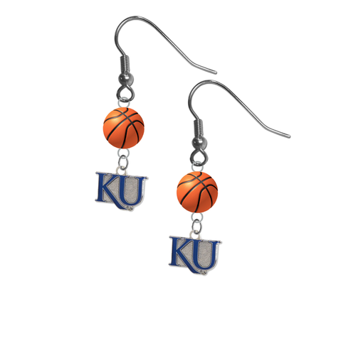 Kansas Jayhawks Style 2 NCAA Basketball Dangle Earrings