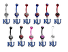 Kansas Jayhawks Style 2 NCAA College Belly Button Navel Ring - Pick Your Color