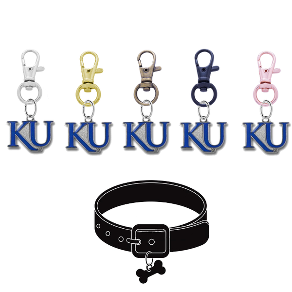 Kansas Jayhawks 2 NCAA Pet Tag Dog Cat Collar Charm