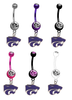 Kansas State Wildcats NCAA College Belly Button Navel Ring - Pick Your Color