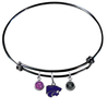 Kansas State Wildcats NCAA Black Expandable Wire Bangle Charm Bracelet