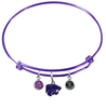 Kansas State Wildcats NCAA Purple Expandable Wire Bangle Charm Bracelet