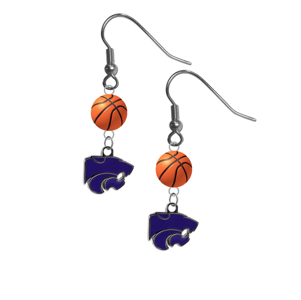 Kansas State Wildcats NCAA Basketball Dangle Earrings