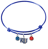 Kansas Jayhawks Style 2 NCAA Blue Expandable Wire Bangle Charm Bracelet