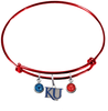 Kansas Jayhawks Style 2 NCAA Red Expandable Wire Bangle Charm Bracelet