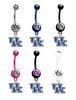 Kentucky Wildcats NCAA College Belly Button Navel Ring - Pick Your Color