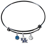 Kentucky Wildcats NCAA Black Expandable Wire Bangle Charm Bracelet