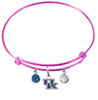 Kentucky Wildcats NCAA Pink Expandable Wire Bangle Charm Bracelet