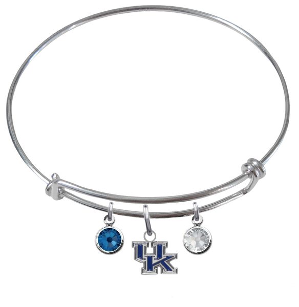 Kentucky Wildcats NCAA Expandable Wire Bangle Charm Bracelet