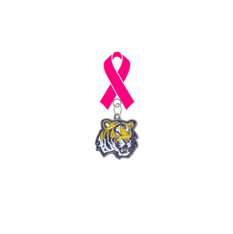 LSU Tigers Breast Cancer Awareness / Mothers Day Pink Ribbon Lapel Pin