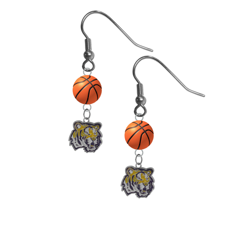 LSU Tigers NCAA Basketball Dangle Earrings