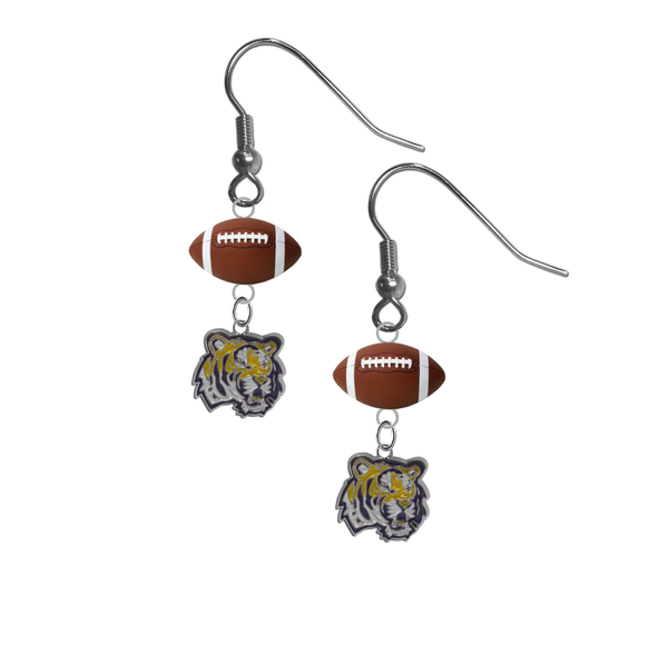 LSU Tigers NCAA Football Dangle Earrings