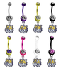 LSU Tigers NCAA College Belly Button Navel Ring - Pick Your Color