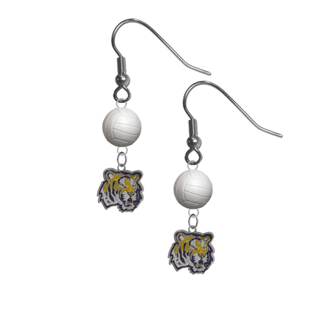 LSU Tigers NCAA Volleyball Dangle Earrings