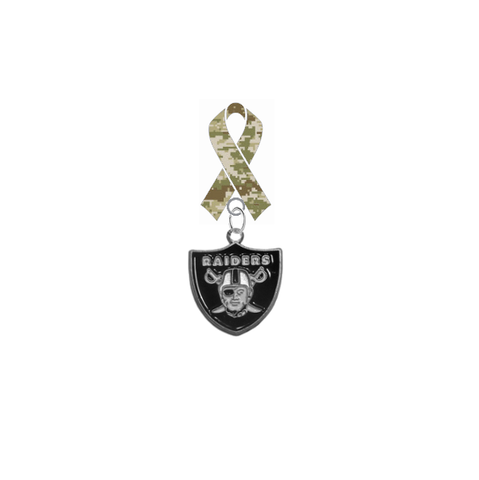 Oakland Raiders NFL Salute to Service Military Appreciation Camo Ribbon Lapel Pin
