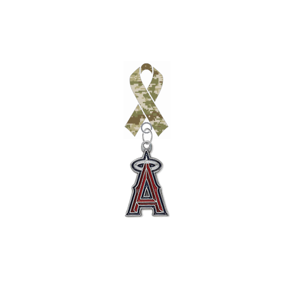 Anaheim Angels MLB Salute to Service Military Camo Ribbon Lapel Pin