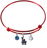 Los Angeles Dodgers Red MLB Expandable Wire Bangle Charm Bracelet