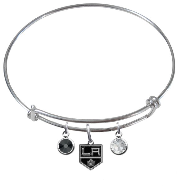 Los Angeles Kings NHL Expandable Wire Bangle Charm Bracelet