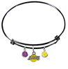 Los Angeles Lakers BLACK Color Edition Expandable Wire Bangle Charm Bracelet