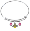 Los Angeles Lakers NBA Expandable Wire Bangle Charm Bracelet