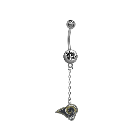 Los Angeles Rams Chain NFL Football Belly Button Navel Ring