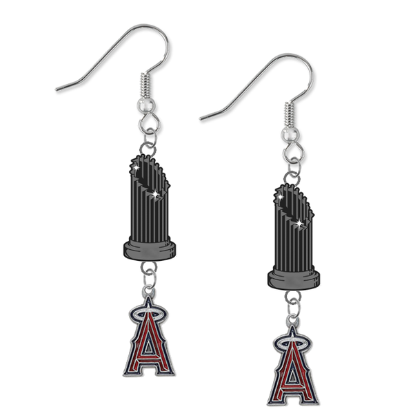 Anaheim Angels MLB World Series Trophy Dangle Earrings