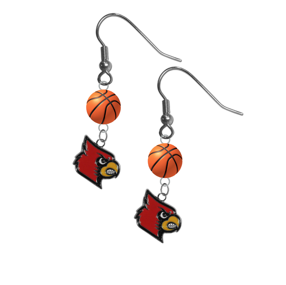 Louisville Cardinals NCAA Basketball Dangle Earrings