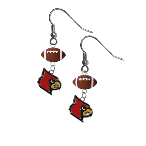 Louisville Cardinals NCAA Football Dangle Earrings