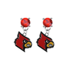 Louisville Cardinals RED Swarovski Crystal Stud Rhinestone Earrings