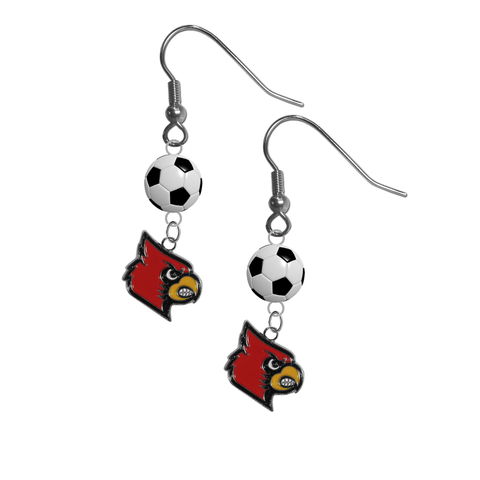 Louisville Cardinals NCAA Soccer Dangle Earrings